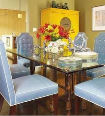 Yellow Chairs Upholstered Design Ideas Glass Top Dining Table Design Ideas