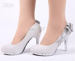sales women u0027s fashion high heeled shoes silver flowers bride