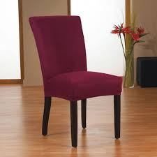 sure fit dining chair slipcovers sure fit harlow stretch form fit dining chair slipcover in maroon