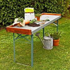 German Beer Garden Table by 10 Easy Pieces Potting Benches Gardenista