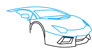 cartoon lamborghini how to draw lamborghini aventador a car easy step by step