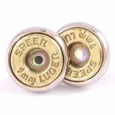 bullet stud earrings lucky 9mm brass stud bullet earrings hill cutlery
