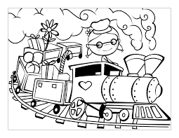 coloring page train 3955
