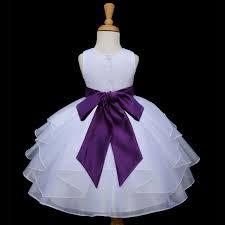 ekidsbridal shimmering organza white flower dress weddings