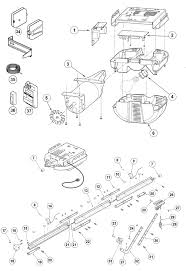 Genie Screw Drive Garage Door Opener Parts by Excelerator Garage Door Opener Parts Schematic