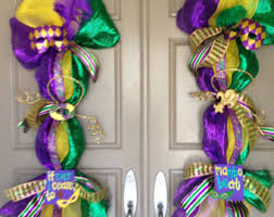 mardi gras door decorations mardi gras swag etsy