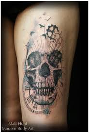 mardi gras skull with snake and flower tattoos pictures to pin on