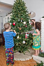 pre lit pre decorated christmas tree christmas lights decoration