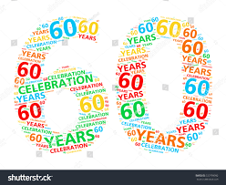celebrating 60 years birthday colorful word cloud celebrating 60 year stock illustration