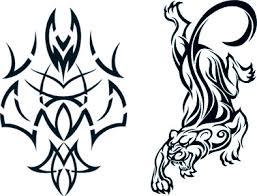 tribal u0026 tiger glow in the dark tattoos t4aw tribaltiger