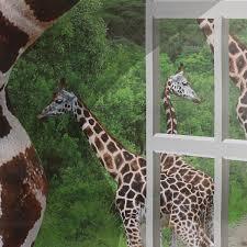 asian giraffe ring holder images 3d lovely giraffe wall sticker decal animal wallpaper living room jpg
