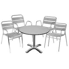 Grey Bistro Chairs Inspiring Steel Bistro Chairs Outdoor Table And 4 Chairs Stainless