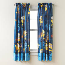 Crushed Voile Sheer Curtains by Illumination Entertainment Despicable Me Minions Room Darkening Panel