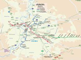 Map Rome Italy by Metro Map Of Rome Johomaps