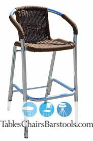 restaurant outdoor bar stools closeout mojave commercial outdoor aluminum tan resin wicker bar