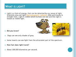 How Fast Is Light Light And The Human Eye 2012