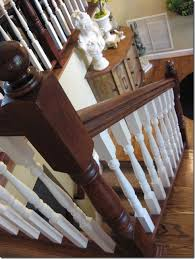 staining an oak banister southern hospitality