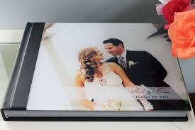 custom wedding photo albums custom wedding photo album 11x14 horizontal acrylic cover