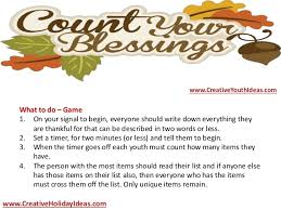 thanksgiving ideas count your blessings