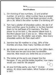 test your 5th grader with these math word problem worksheets