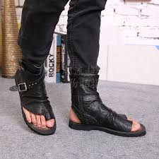 s leather boots buy sandals flat click to buy arrival sandals black leather ankle buckle