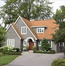 lovely gray house with red roof tiles my walks around town and