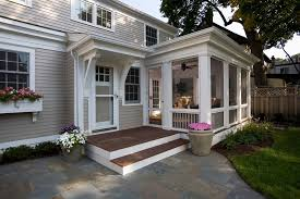 sun porch designs porch traditional with container plants deck