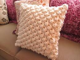 Free Cushion Crochet Patterns Popcorn Knit Pillow Cover How To Stitch A Knit Or Crochet