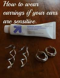 best earrings for sensitive ears sensitive ears insert tip of earring into neosporin before