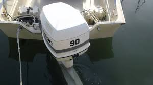 starting up the johnson ocean runner 90 hp outboard youtube