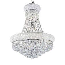 Circular Crystal Chandelier Crystal Chandeliers Hanging Lights The Home Depot
