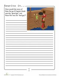 peter pan writing peter pans writing prompts worksheets