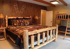 brilliant art log bedroom sets rustic timberline log beds bwrlb