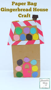 paper bag gingerbread house craft this fun holiday craft can be