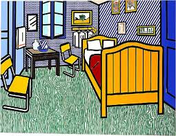 bedroom in arles roy lichtenstein s bedroom is a take on van gogh s bedroom in