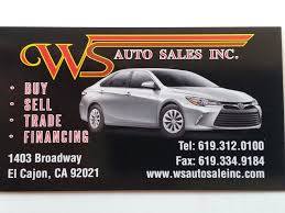 ws auto sales el cajon ca read consumer reviews browse used