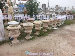 carved garden planters and urns outdoor decorative