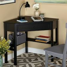 Small Black Writing Desk Black Writing Desk With Drawers Simple Living Black Wood Corner