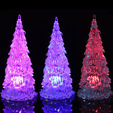 colorful led mini crystal light christmas tree christmas