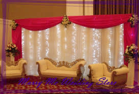 Pink And Teal Curtains Decorating 3m X 6m Beautiful Wedding Backdrops Curtain With Detachable Swag