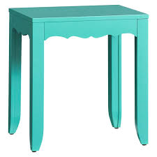 Aqua Side Table Scallop Side Table Pbteen