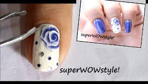 how to use nail decals step by step rose nail designs youtube