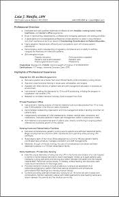 Lpn Resume Template Sle Lpn Resume Berathen Com