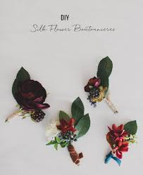 boutonniere flower diy silk flower boutonnieres green wedding shoes