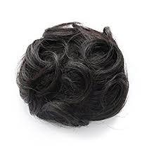 hair bun clip rosette hair 100 human clip on in hair bun
