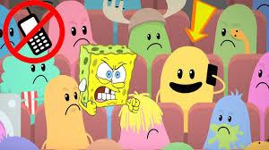 spongebob u0027s game frenzy vs dumb ways to die in movie theater funny