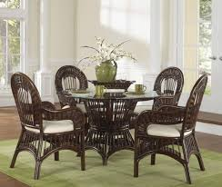 white wicker kitchen table dining room astounding small dining room design with round glass