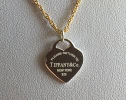 tiffany pendant necklace silver images Tiffany necklace etsy jpg
