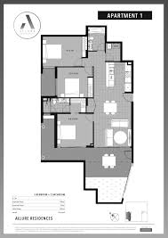 Example Floor Plans Apartments Allure Residences Mount Gravatt East