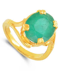 natural gem rings images Buy online 5 25 ratti green onyx panna substitute ring in ashta dh JPG